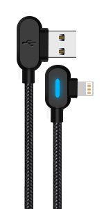 90 degree lightning cable iphone charging fast charging cord 10ft