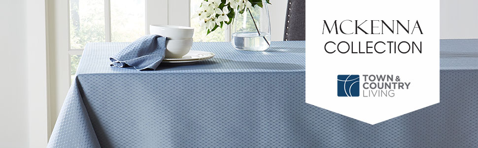 tablecloth, blue tablecloth, white tablecloth, formal tablecloth, polyester tablecloth