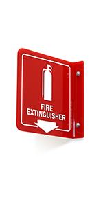 Fire Extinguisher With Down Arrow