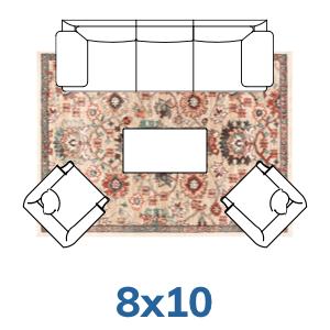 Well Woven bohemian 8x10 8x11 rugs.