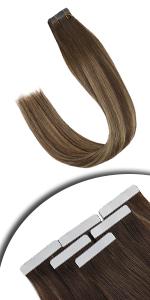 brown tape in hair extensions