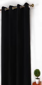 homeideas black blackout curtains