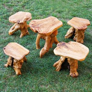 Tree Stump Stools Natural Wood