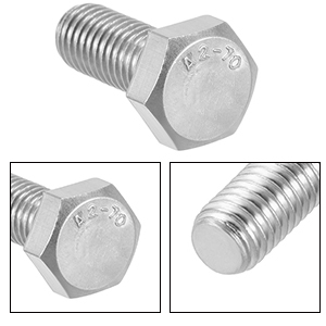 Fully Threaded Stainless Steel Hex Bolts
