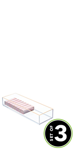 clear plastic acrylic rose gold clarity Divider small medium large set pack accent