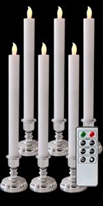 Battery Powered Flameless Taper Candlesticks