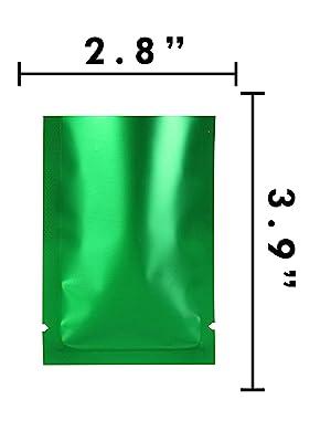 mylar foil open top bag