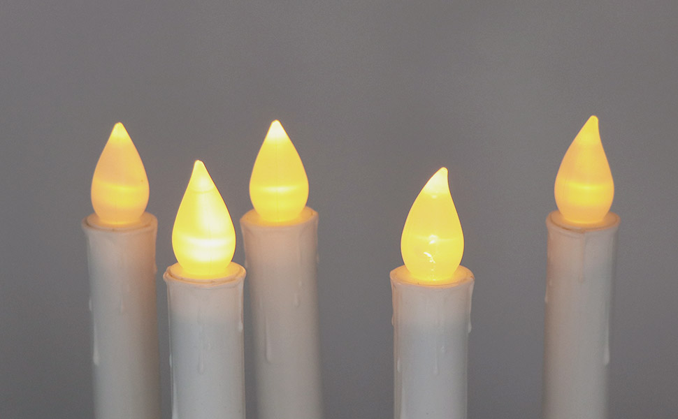 LED Flickering Flameless Window Candles