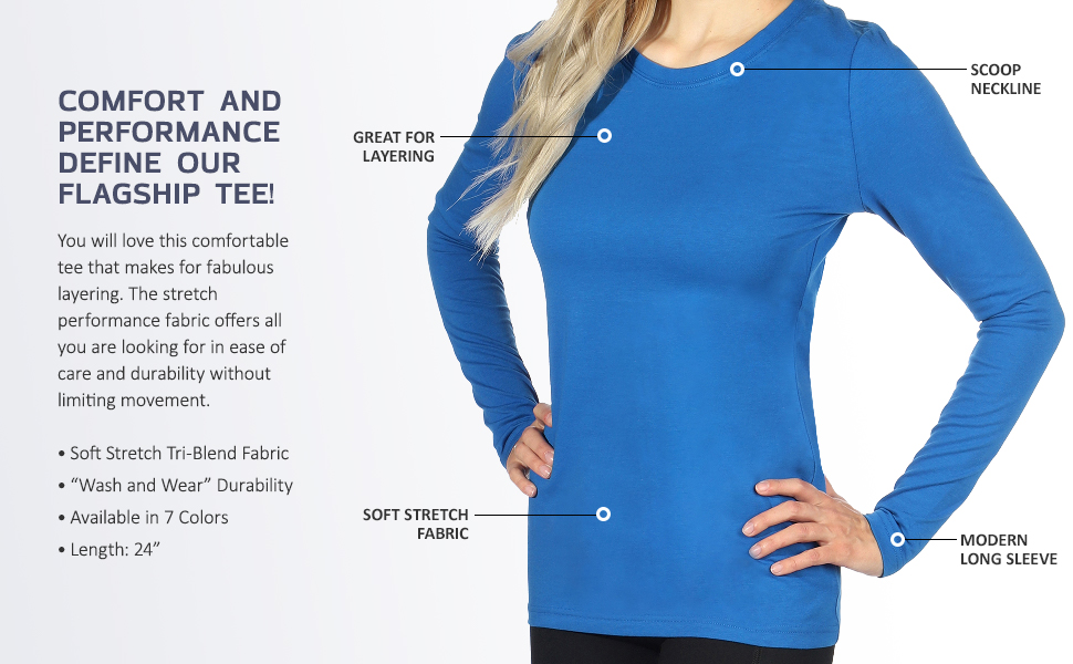 topstitch apparel performance stretch t-shirt long sleeve