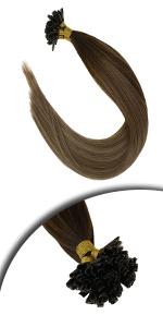 balayage u tip hair extensions