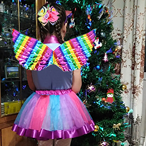 rainbow tutu unicorn hair bow