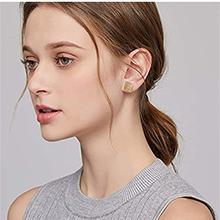 Cubic Zirconia Square Stud Earring