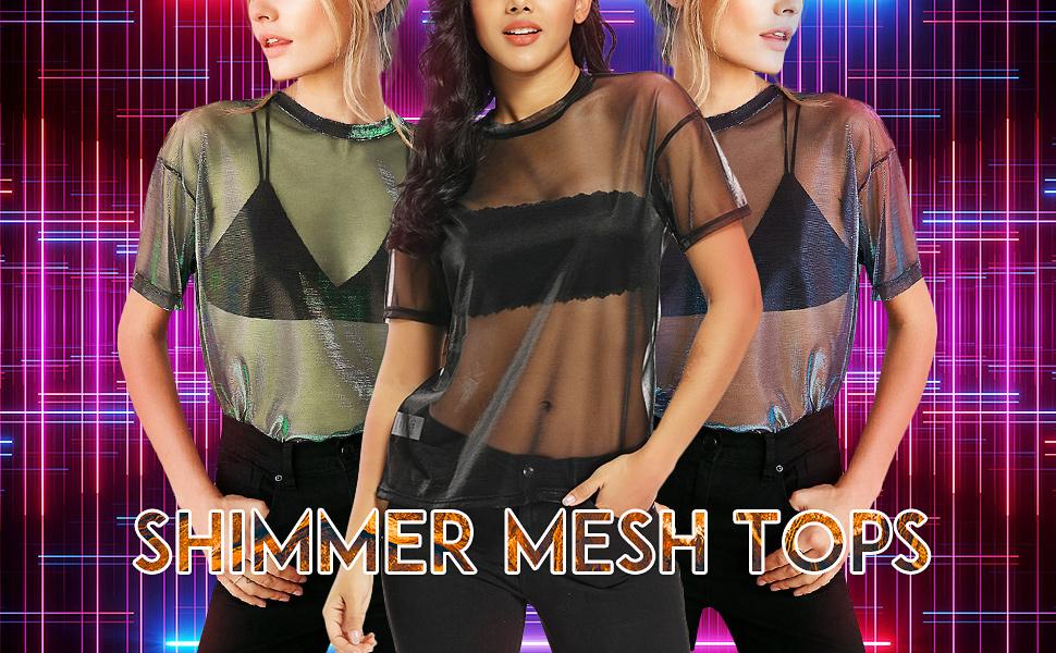 sheer mesh tops