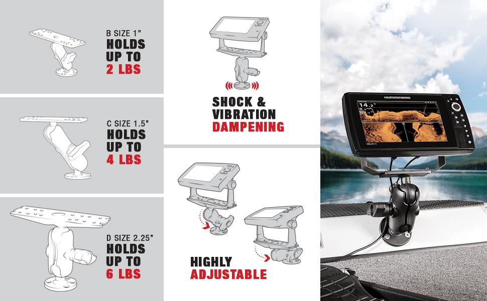 ram mounts fishfinder mounts Features