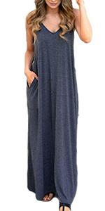 Womens Long Sleeveless Dress