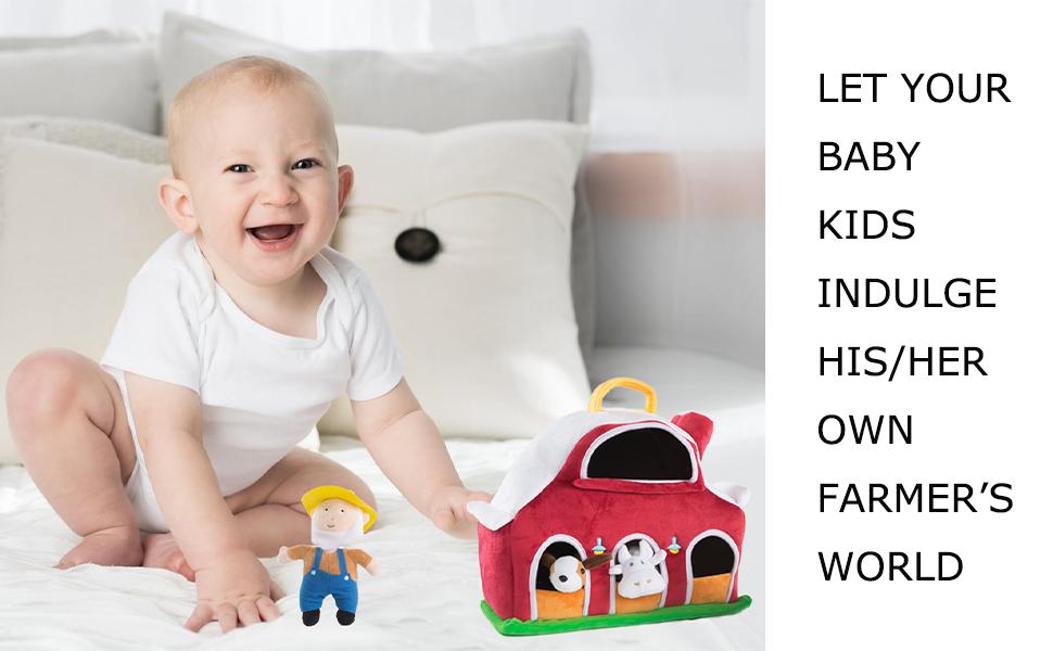 farm animals toddler playset plush farm farmhouse animal houses for kids animals gifts for boys
