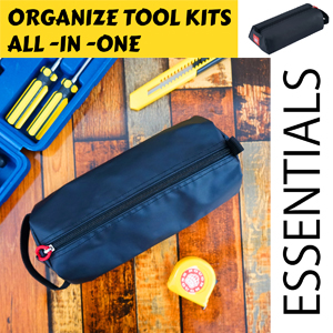rough enough small touch pouch for wrench screwdriver tape measure pliers as bike gardening tool bag