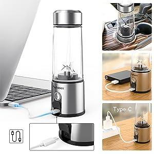 Milk shake Protein shaker Kacscoo blender Blender Glass blender steel wireless blender cordless