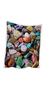 BLESSLIVING Rainbow Marble Blanket