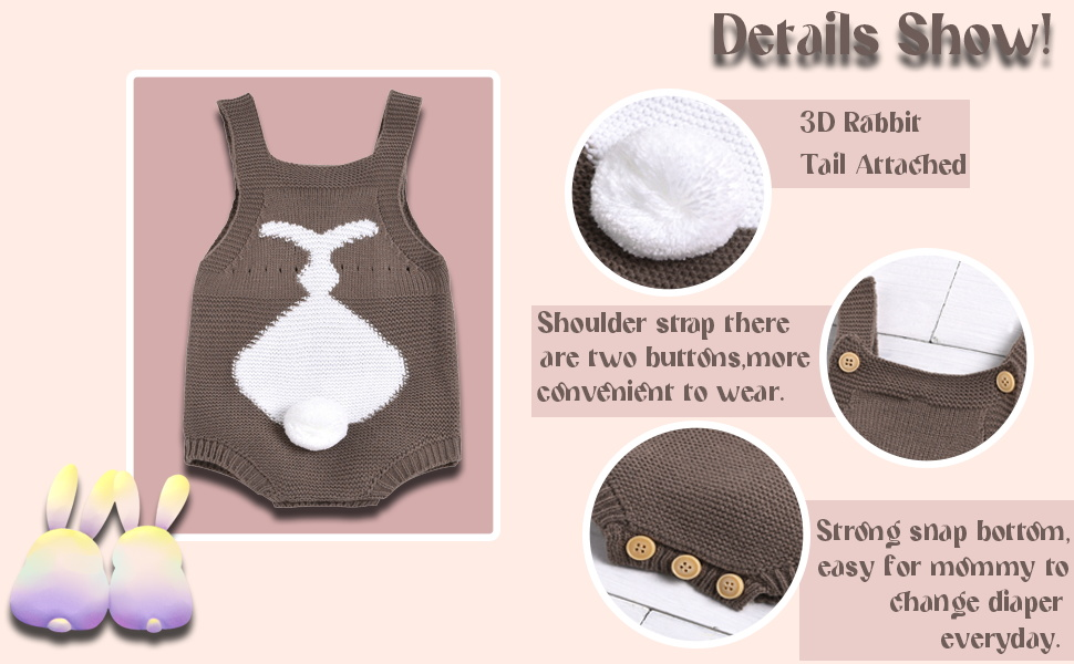 Newborn Baby Romper Infant Baby Knited Outfits Sleeveless Jumpsuit for Boys Girls One Piece Overall