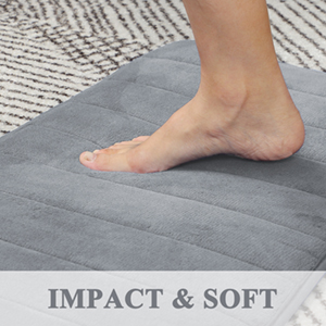 Memory Foam Non-Slip Bath Tub Mat Soft Bathroom Floor Absorbent Rubber Back Runner Area Rug