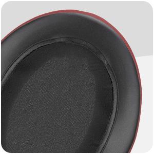 Brainwavz oval earpads dark red pu leather