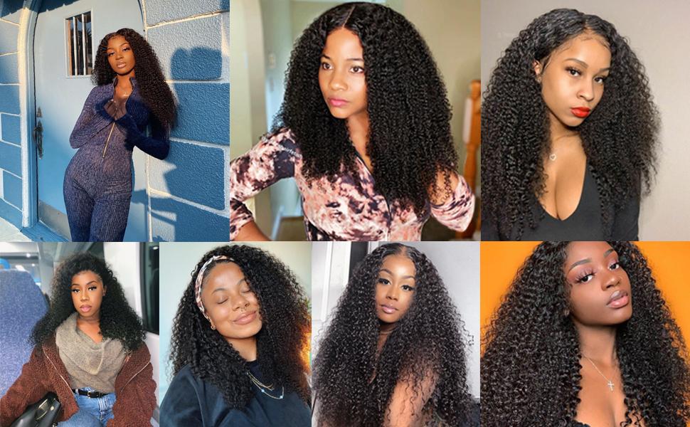 kinky curly human hair wigs