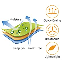 sweat wicking soft fabric quick dry fit polyester spandex elastane