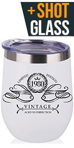 40th Birthday Gifts for Women Wine Tumbler 1980 1979 40th Birthday Party Supplies 40th Birthday Gift