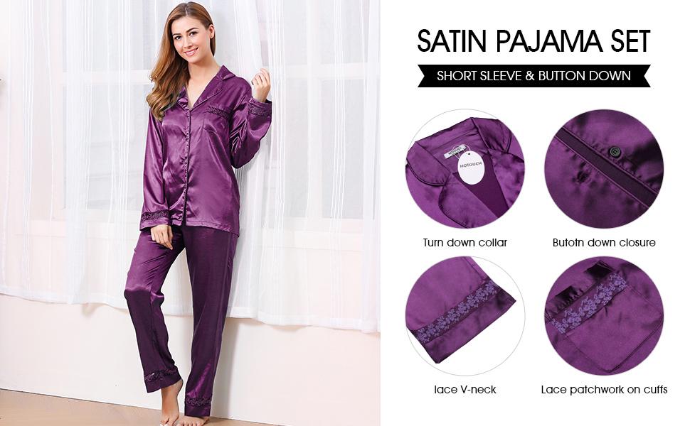long selvess pajama set