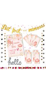 Mimosa Bar Decorations Kit