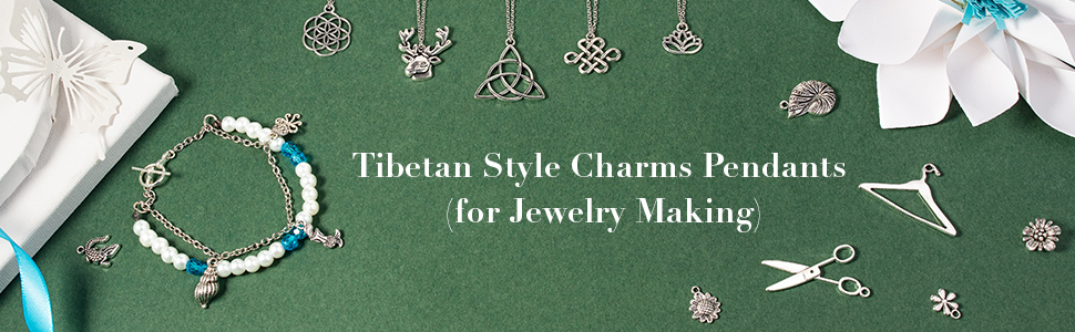 Charms Pendants Tibetan Alloy