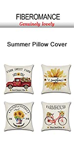 red car sunflower pillow cover