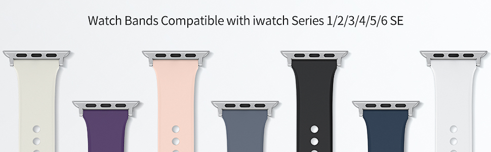 soft silicon apple watch band