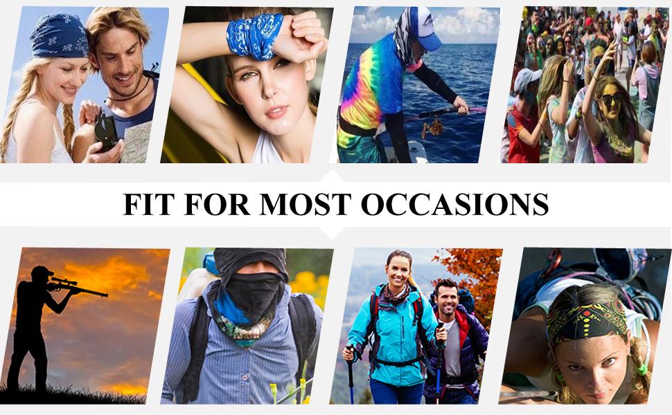 hiking bandana,cycling bandana,neck gaiter with ear loops for men,women face scarf bandana
