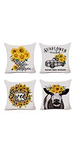 sunflower pillow covers