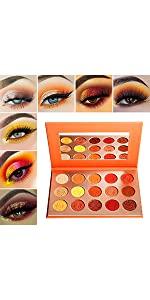 Afflano orange eyeshadow palette