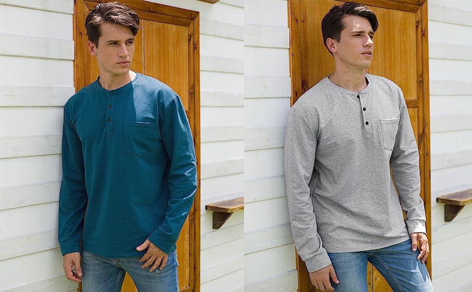navy blue shirts for men,cotton henley shirts for men,casual shirts for men,henley,shirts for men,