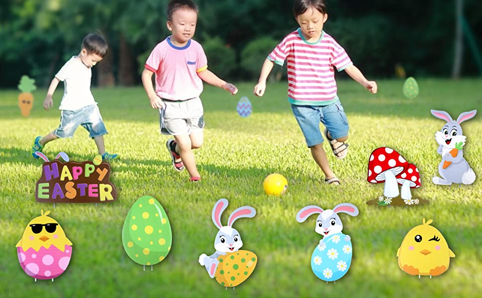 Outdoor Easter Lawn Decorations