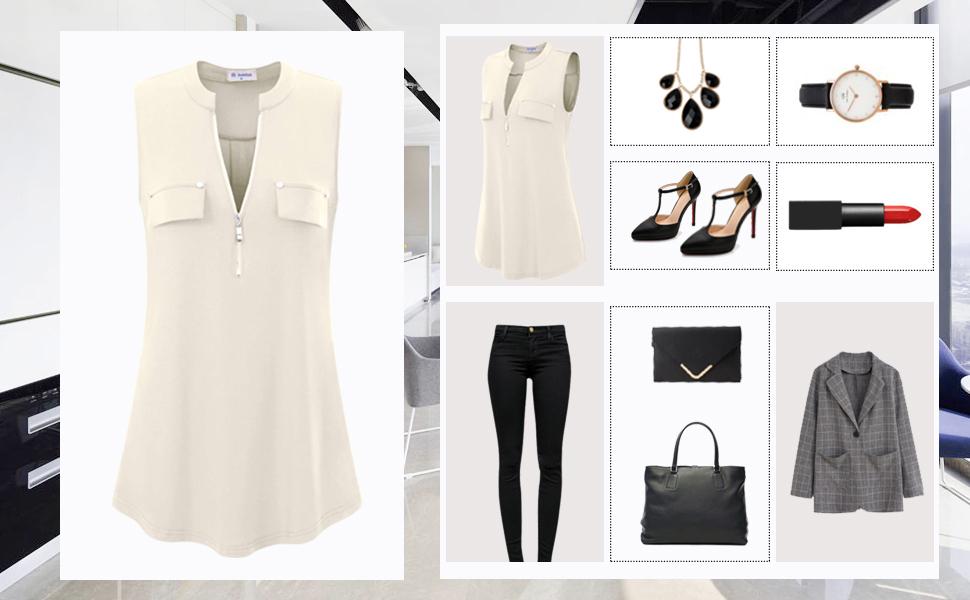 sleeveless tops for women