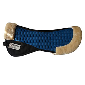 Faux Fur/Sheepskin Horse Half Pads-Royal Blue