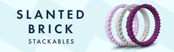 Slanted Brick Stackables Logo