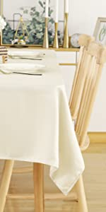Square Tablecloth 54 x 54 Inch Striped Dark Grey Table Cover in Washable Polyester