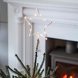 Christmas tree decoration,star tree topper,star xmas decoration,indoor christmas decor,star light