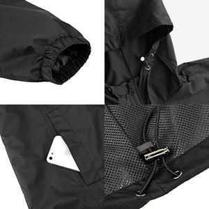 Water resistant jacket details