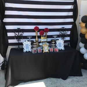 black white stripe backdrop