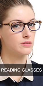 Rectangular Womens Fashion Anti Blue-Ray Reading Glasses1.0 1.5 2.0 2.5 3.0 3.5 4.0