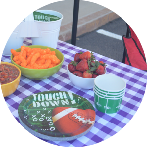 tablesnugg tailgate football touch down sports