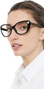 Oversized cat eye reading glasses women