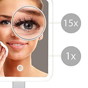 fancii 15x magnifying makeup mirror
